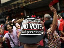 Image result for no vote thailand elections