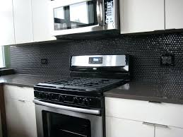 black backsplash