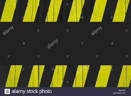 Black And Yellow Stripes Border Warning Sign With Yellow And Black Stripes Painted Over Cracked Wood