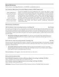 Senior Accountant Resume - Resume Templates