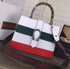 gucci dionysus leather top handle bag 421999 white green