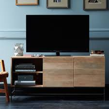 Living Room Console Cabinets Industrial Storage Media Console Large West Elm Uk