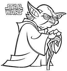 Awesome Star Wars Cartoon Coloring Pages Design Printable Coloring
