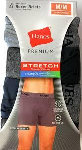 hanes 4pk premium men s stretch long
