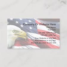 American Flag Website Background Patriotic Business Card Template