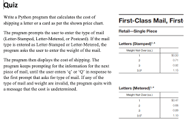 Quiz Write A Python Program That Calculates The Co