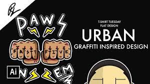 How To Design Art For T Shirt How To Design Urban Graffiti Art For T Shirts Adobe Illustrator Tutorial