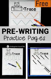 Free Pre-Writing Worksheets - The Kindergarten Connection