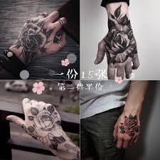 Tattoo Stickers Waterproof Men And Women Simulation Hand Back
