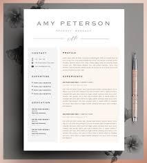 Professional Cv Curriculum Vitae 2 Page Resume Simple Etsy
