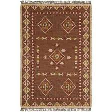 brown hacienda wool 10 ft x 14 ft area rug