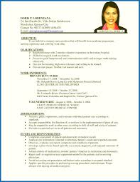 Sample Resume For Company Nurse Without Experience Refrence Personal