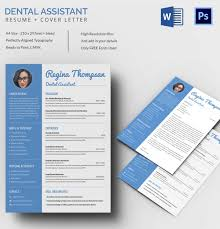 A4 Size Dental Assistant Resume + Cover Letter Template