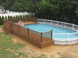 intex above ground pool decks. Delighful Intex Simple Above Ground Pool Decks Outdoor Swiming Pools Intex Kits Two Tone  Deck Railing Metal Mesh On Intex Above Ground Pool Decks