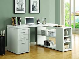 huge desk. Open Shelving Storage, Enclosed Drawer Huge Desk Top Space, And All Finished In A Sweet White Finish - Constructed With Quality Materials R