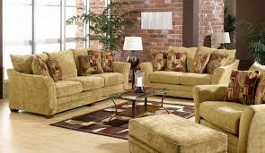 Maple Living Room Furniture Living Room Sofa With Brick Walls In Rustic Style Brick Wall