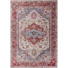 kas oriental rugs ashton gray and red taylor rectangular 2 ft x 3 ft 3 in rug