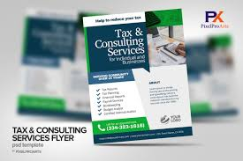 Tax Flyer Design Tax Consulting Services Flyer Poster Template