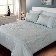 321186 321187 jacquard damask duvet set duck egg
