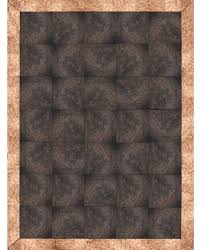 alfombra rug material piel de vaca y piel bovina metalizada cowhide and metal bovine leather mÓdulos modules 30 x 30 cm 12 x 12