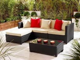 patio furniture for small spaces. black and cream rectangle modern rattan patio furniture for small spaces stained design s