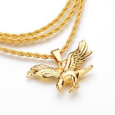 2019 2018 hip hop gold chain boy fly eagle pendants chain men jewelry elephant necklaces pendent chains for boys men gifts jewelry from handanxuebu