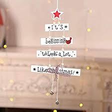 <b>Christmas Wood Pendant Tree</b>-Shaped Five-Pointed <b>Star</b> Letter ...