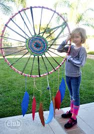 Huge Dream Catchers Giant hula hoop dream catcher to hang from a tree make with 35