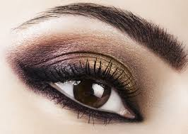 woman eye woman with bright make up