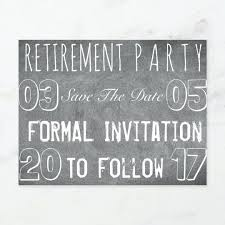 Save The Date Party Template Retirement Free