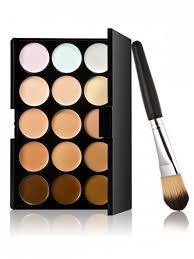 15 colours concealer palette and foundation brush multi