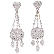doris panos diamond white gold chandelier earrings doris panos diamond white gold chandelier earrings