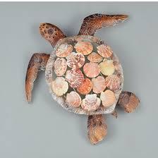 metal sea shell sea turtle