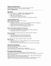 Preschool Teacher Resume Template Awesome Childcare Cover Letter