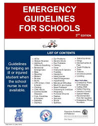 Odjfs Communicable Disease Chart Emergency Guidelines For Schools American Academy Of