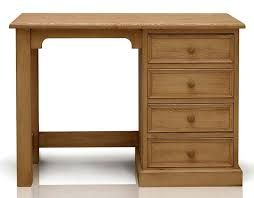 office desk for home use. TFW Mottisfont Waxed Pine Desk - Single Pedestal Office For Home Use