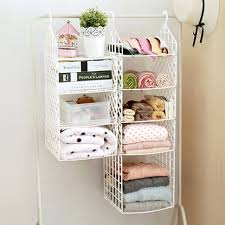 Coat And Hat Rack With Shelf White Collapsible Closet Storage Shelf Rack with hooks bag coat 100