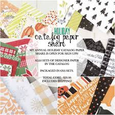 annual holiday catalog paper share