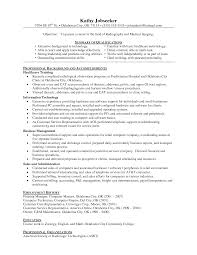Radiology Tech Resume Resume Job