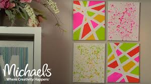 on wall art decor michaels with geometric and splatter paint wall d cor michaels youtube
