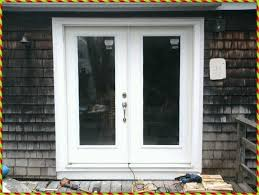 double outswing exterior door french doors with blinds