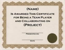 Teamwork Certificate Templates Award Certificates Diploma Word Templates Clip Art Wording