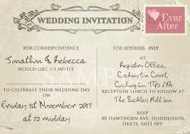 Postcard Wedding Invitations Postcard Wedding Invitations A Beauty