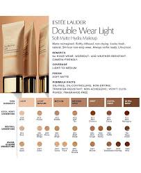 Estee Lauder Double Wear Color Chart Double Wear Light Soft Matte Hydra Makeup 1 Oz