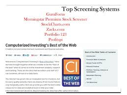Profitspi Stock Chart 1 Finding A Stock Winner First Step Screening John M
