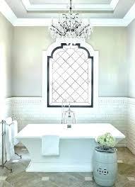 chandelier over bathtub lighting bathroom f above sink cha chandelier over bathtub