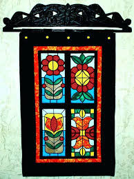 stained glass hangings quilted wall hanging with stained glass applique embroidery advanced embroidery designs stained glass