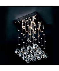 small square crystal chandelier