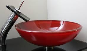 red sink bowl vessel for bathroom