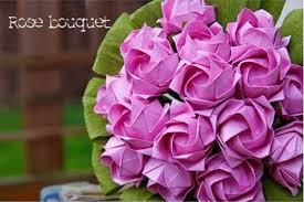 Paper Origami Flower Bouquet Diy Origami Paper Rose Bouquet The Idea King